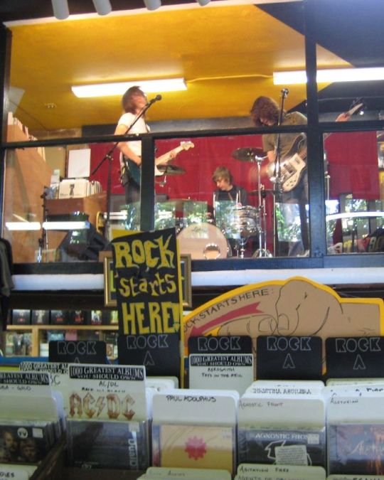Catch a free live show and buy a vinyl at Portland\'s oldest music store, Music Millennium.