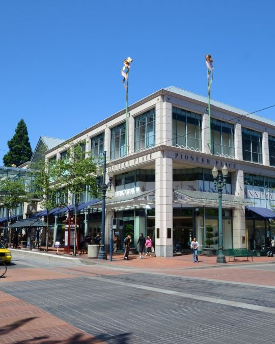 Pioneer Place shopping center houses the major luxury brands that fashionistas crave.