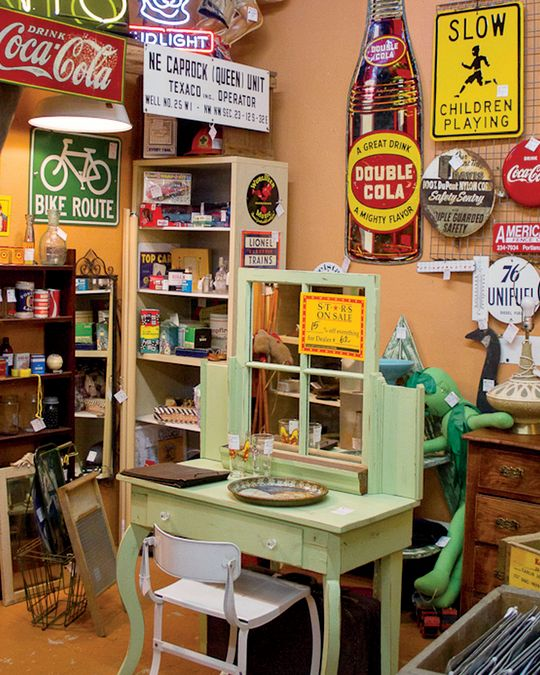 One of more than 200 vendors\' stalls at Stars Antiques Mall