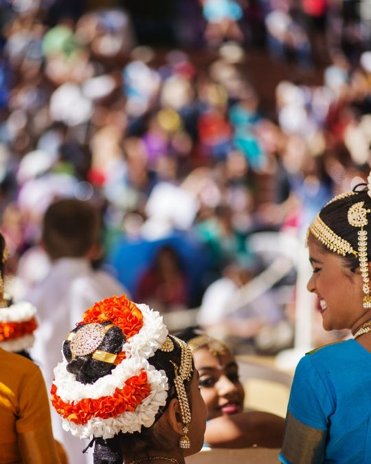Portland\'s India Festival is held every August at Pioneer Courthouse Square.