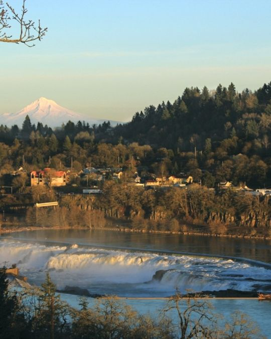 Historic Oregon City is located near the iconic Willamette Falls.