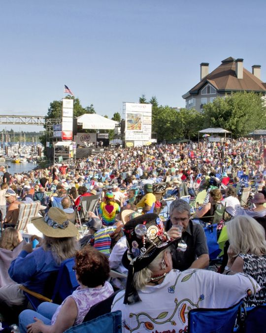 The Waterfront Blues Festival draws crowds every Fourth of July weekend.