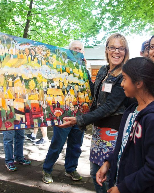 Local art and artists abound at the annual Art in the Pearl event.