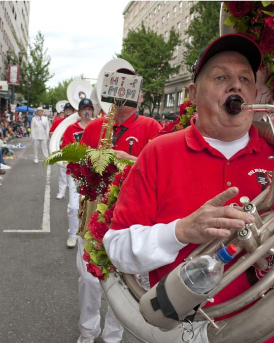 The Rose Festival Grand Floral Parade is a beloved June tradition in Portland.