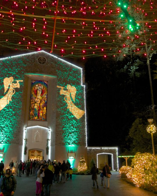 The Christmas Festival of Lights at the Grotto.