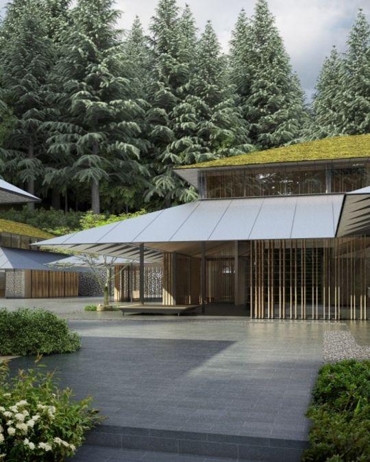 日本庭園の新施設Cultural Villageへの入口完成予想図。
