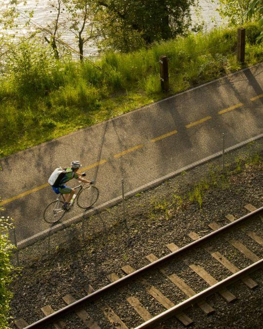 サウスイーストのスプリングウォーター・コリドーをサイクリング