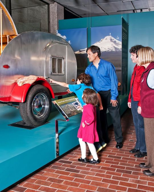 Kids explore local history at the Oregon History Museum.