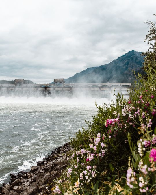 The Bonneville Dam is a national historic site that provides power for 80% of the Pacific Northwest.