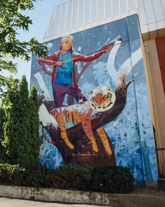 Find this mural by Cambodian-American painter Andrew Hem in Southeast Portland.