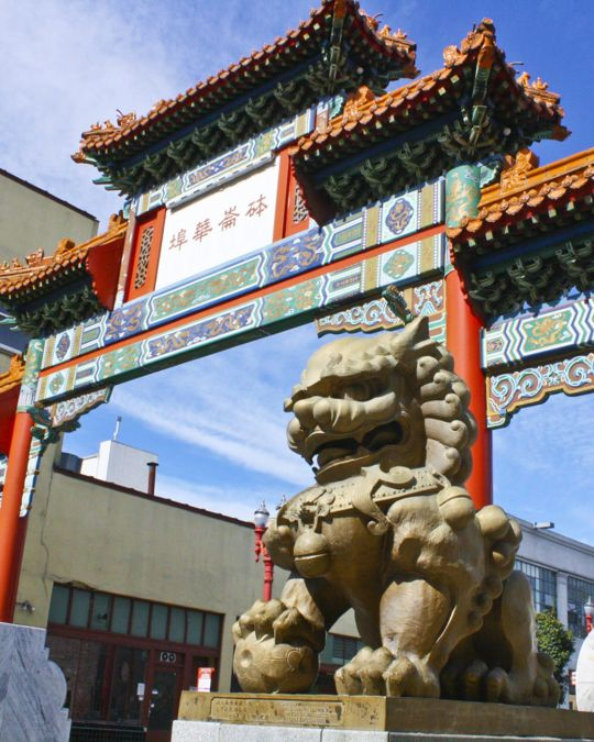 Start a day in Old Town Chinatown by crossing through the neighborhood\'s iconic gate.
