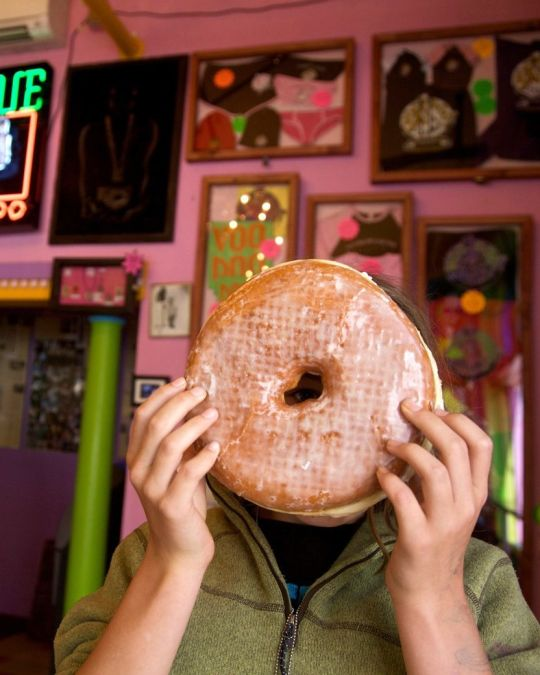 Voodoo Doughnut bakes up their legendary fried treats 24 hours a day.