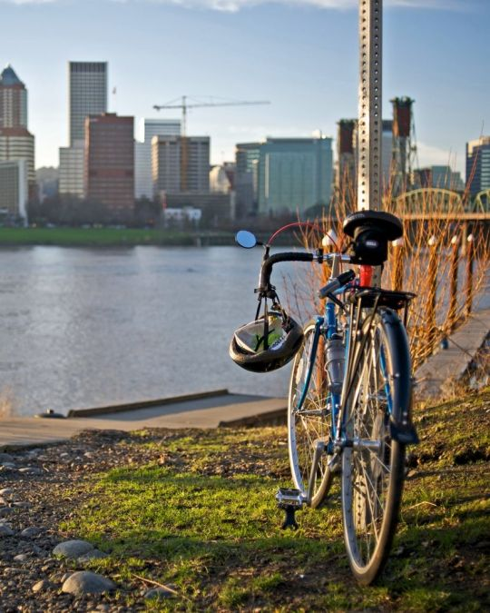 The Springwater on the Willamette Trail offers views of downtown.