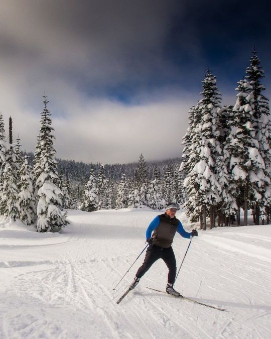 Ski the day away on snow-capped Mount Hood.