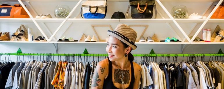 Wildfang clothing store specializes in tomboy style and culture.