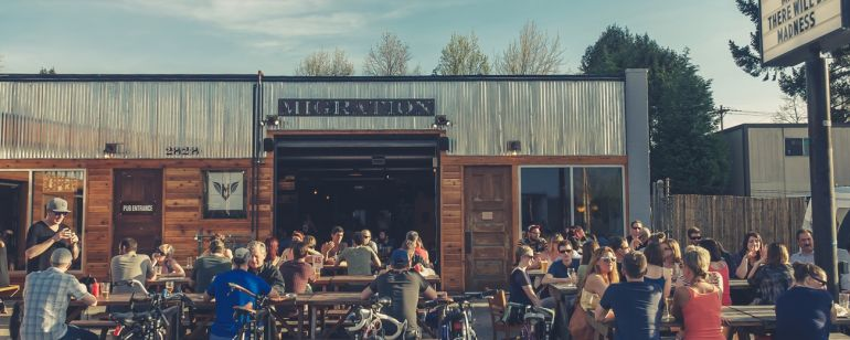 Migration Brewing promises locally brewed pints and plenty of patio space.