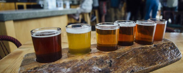 Sip your way through a flight of fresh local beers at Base Camp.
