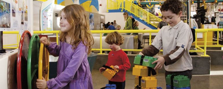 Kids get some hands-on learning at OMSI.