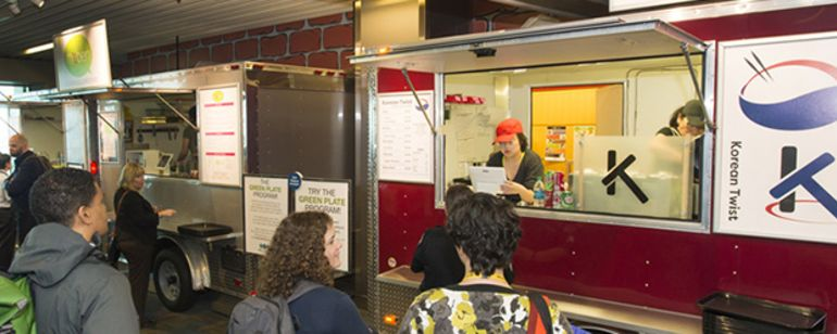 The PDX food cart pod brings local favorites to the airport\'s Oregon Marketplace.
