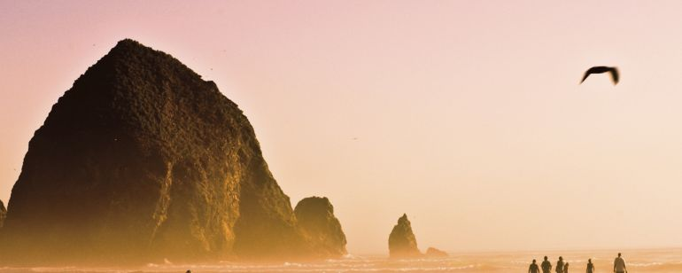 Contestants got a view of iconic Haystack Rock, located in Cannon Beach.