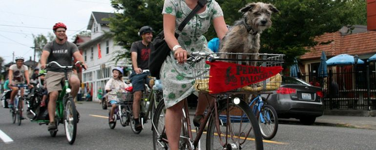 Many Pedalpalooza rides are open to children —  and even pets!