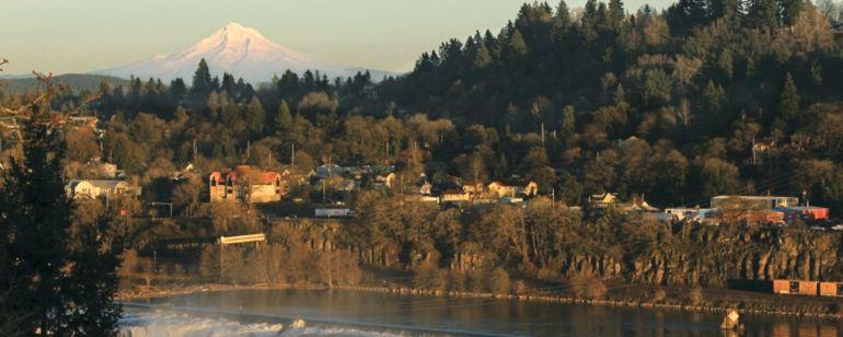 Historic Oregon City is located near the iconic Willamette Falls.