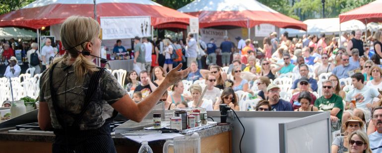 Attend cooking demonstrations and tasting sessions at the Bite of Oregon each August.