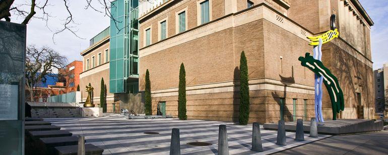 ポートランド美術館の中庭にある彫刻庭園。