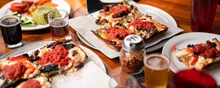 Detroit-style pizza is the house specialty at Assembly Brewing on Southeast Foster Boulevard.