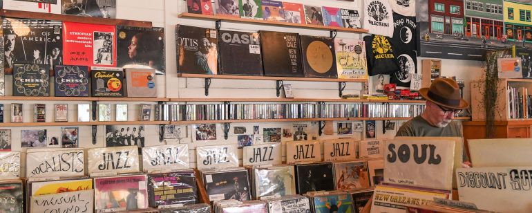 Mississippi Records in North Portland sells classic records and turntables.