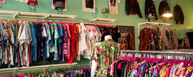 Wyld Stallyns Vintage is one of Portland\'s many neighborhood boutiques specializing in used clothing.