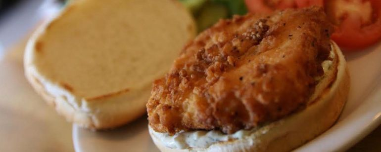 "Vita Cafe on Northeast Alberta Street offers a fried tofu-laden \""fishwich\"" with vegan tartar sauce."