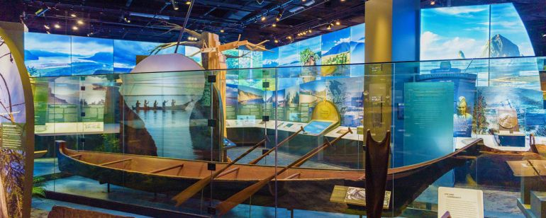 """Experience Oregon\"" is a 7,000-square-foot permanent exhibit at Oregon Historical Society, reflecting the people, places and events that shaped the land that is now known as Oregon."