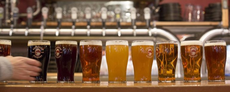 Sip beers of all styles at Deschutes Brewery\'s Portland pub.