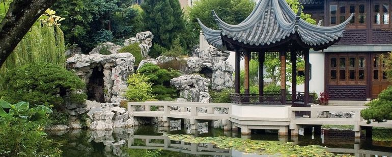 The Lan Su Chinese Garden offers tranquil garden paths and a cozy tea house.