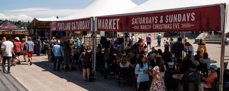 Combining an arts show, a live street concert and an open-air bazaar, this riverside market has been a beloved Portland tradition since 1974.
