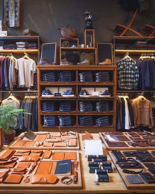 interior of Tanner Goods store