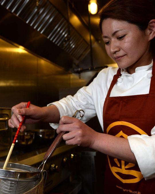 Chef Mayumi Hijikata prepares ramen