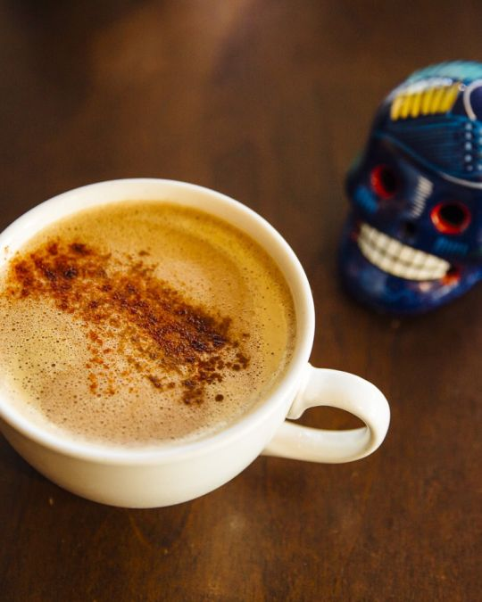 Revolución specializes in traditional Mexican beverages like atole and champurrado.