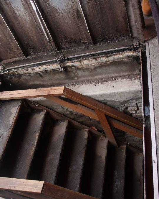 stairs leading to underground Portland