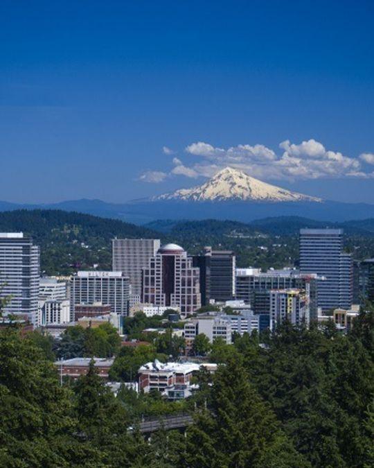 Photo of Portland skyline.