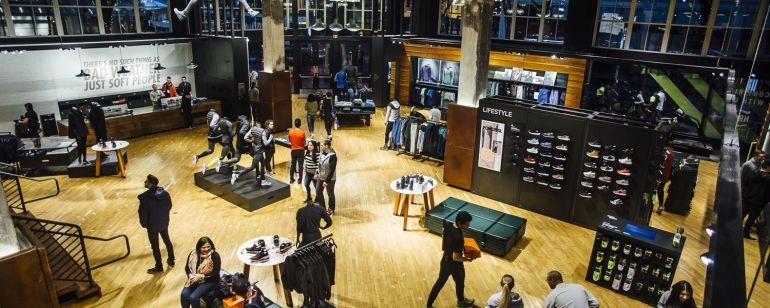 interior of the Nike Portland store