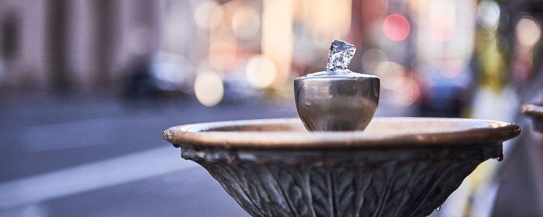 """Photograph of a \""""Benson Bubbler\"""" water fountain"""