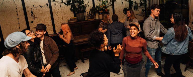 people dancing on a dance floor