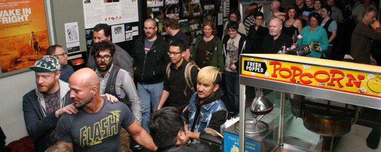 Cinephiles line up for a Portland Queer Film Festival screening