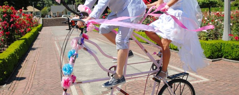 Pedalpalooza tall bike wedding