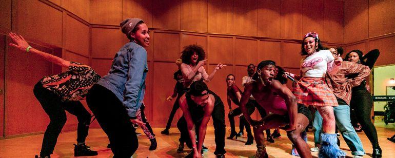 students dancing at the Black Arts Festival