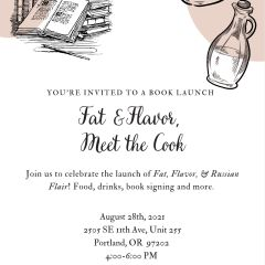 Fat & Flavor, Meet the Cook; A Cookbook Launch and Celebration