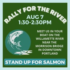 Rally for the River on the Willamette River near the PDX Waterfront
