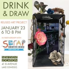 Drink & Draw - Reused Art Project